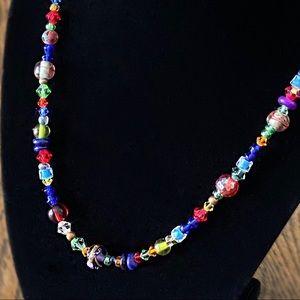 "Handcrafted Swarovski Crystal beaded necklace 22"""